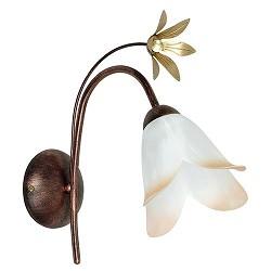 *Klassieke wandlamp bruin met bloem