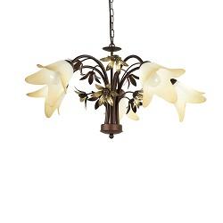 Klassieke eettafel hanglamp met bloemen