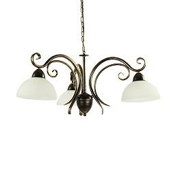 Klassieke hanglamp zwart-goud eettafel