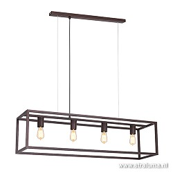 Strak klassieke eetkamer hanglamp bruin