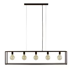 Grote hanglamp landelijk frame bruin