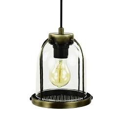 Klassieke glazen hanglamp lantaarn