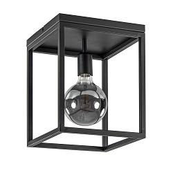 Zwarte plafondlamp frame vierkant