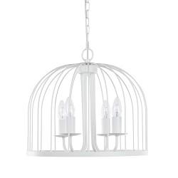 Romantische witte hanglamp kroon-kooi