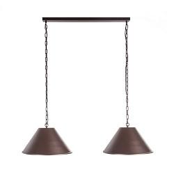 *Eettafel hanglamp bruin 2-lichts