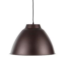 Bruine hanglamp metaal enkele kap