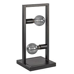 Zwarte metalen tafellamp Frame