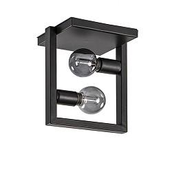 Strakke zwarte plafondlamp metaal Frame