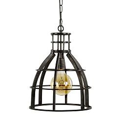 Ruw metalen hanglamp antiek zwart