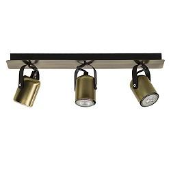 *Klassieke plafondspot 3-lichts brons