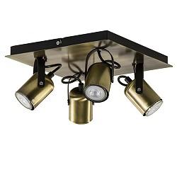 Klassieke vierkante spot brons 4-lichts