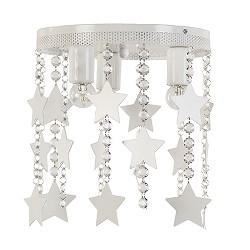 *Plafondlamp wit met kristal en sterren
