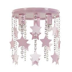 Roze kinderlamp-plafondlamp met sterren