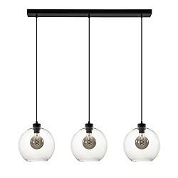 Glazen 3-lichts hanglamp eettafel