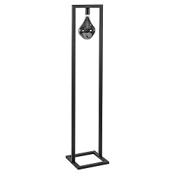 Moderne vloerlamp zwart excl. lichtbron