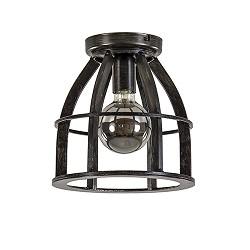 Metalen plafondlamp antiek zwart