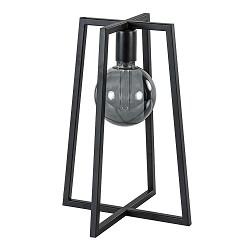 Stoere zwarte tafellamp frame