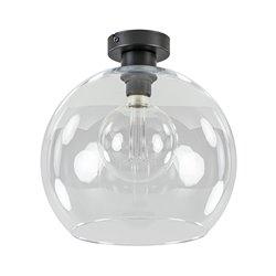Globe plafondlamp helder glas 30 cm