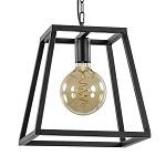 Strakke hanglamp industrieel zwart