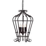 *Landelijke hanglamp-lantaarn bruin