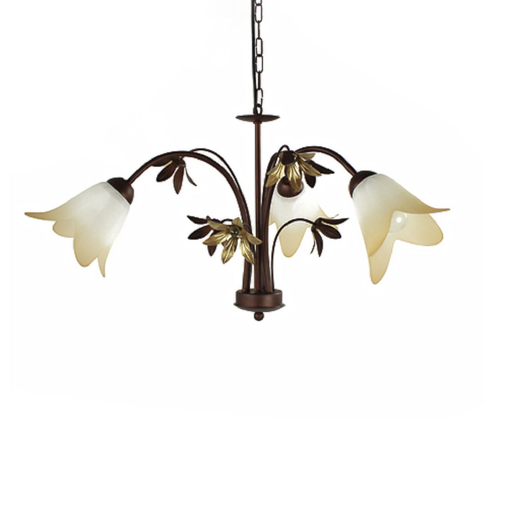Hanglamp kroon klassiek glas slaapkamer