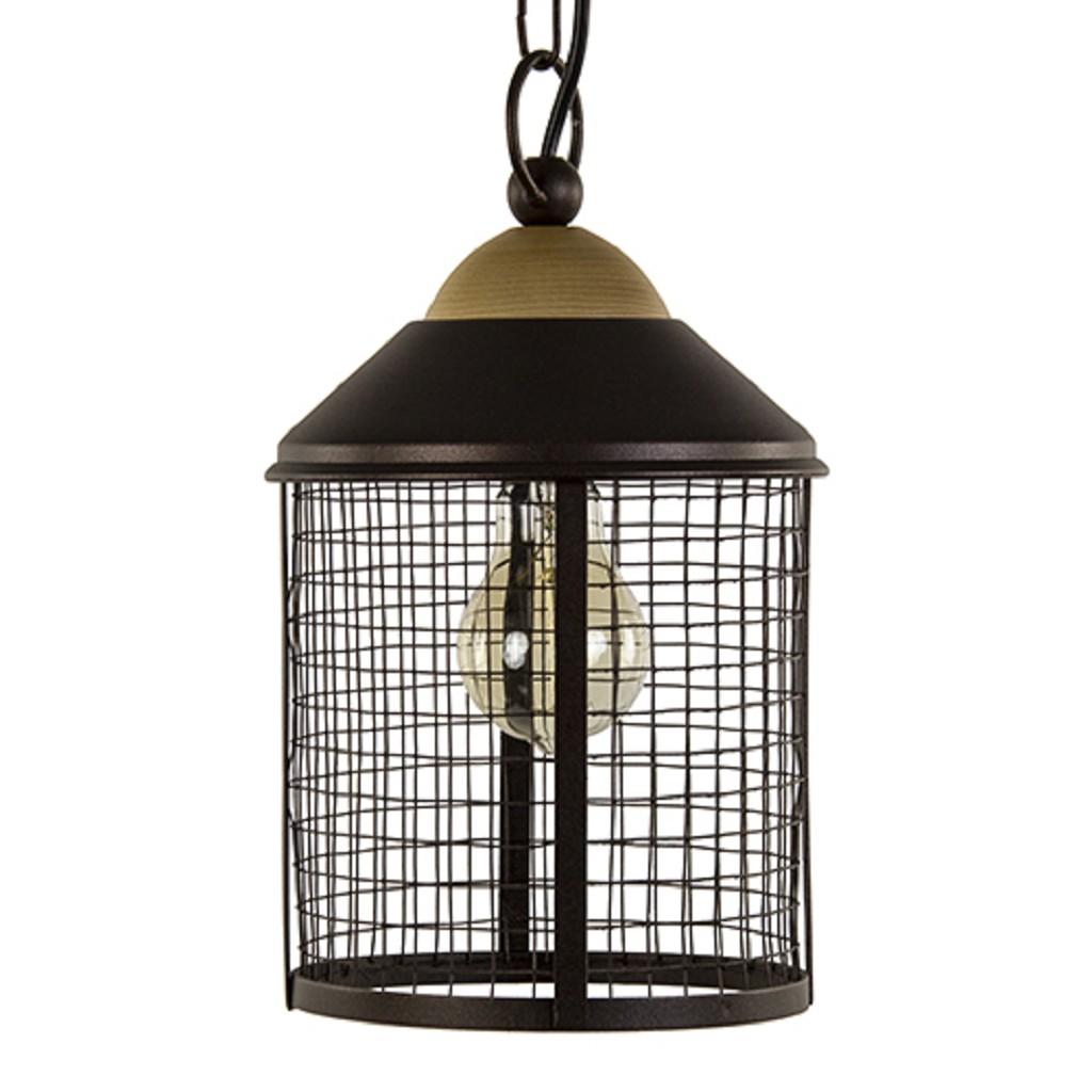 Verrassend Landelijke bruine hanglamp-lantaarn hal | Straluma AC-02