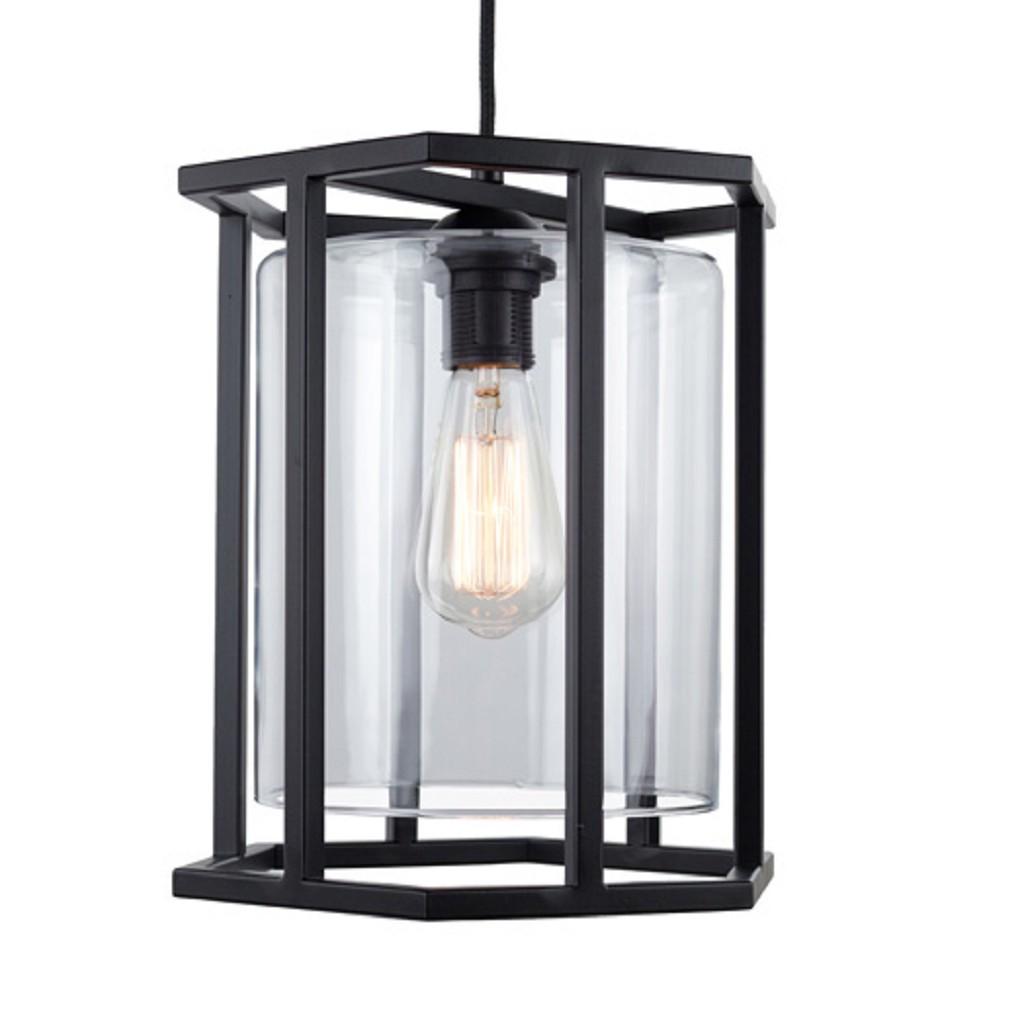 Zwarte lantaarn frame 6-kant keuken