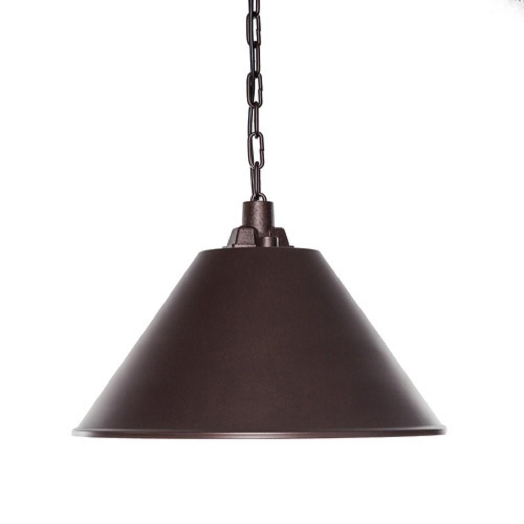 Landelijke eettafel hanglamp roestbruin