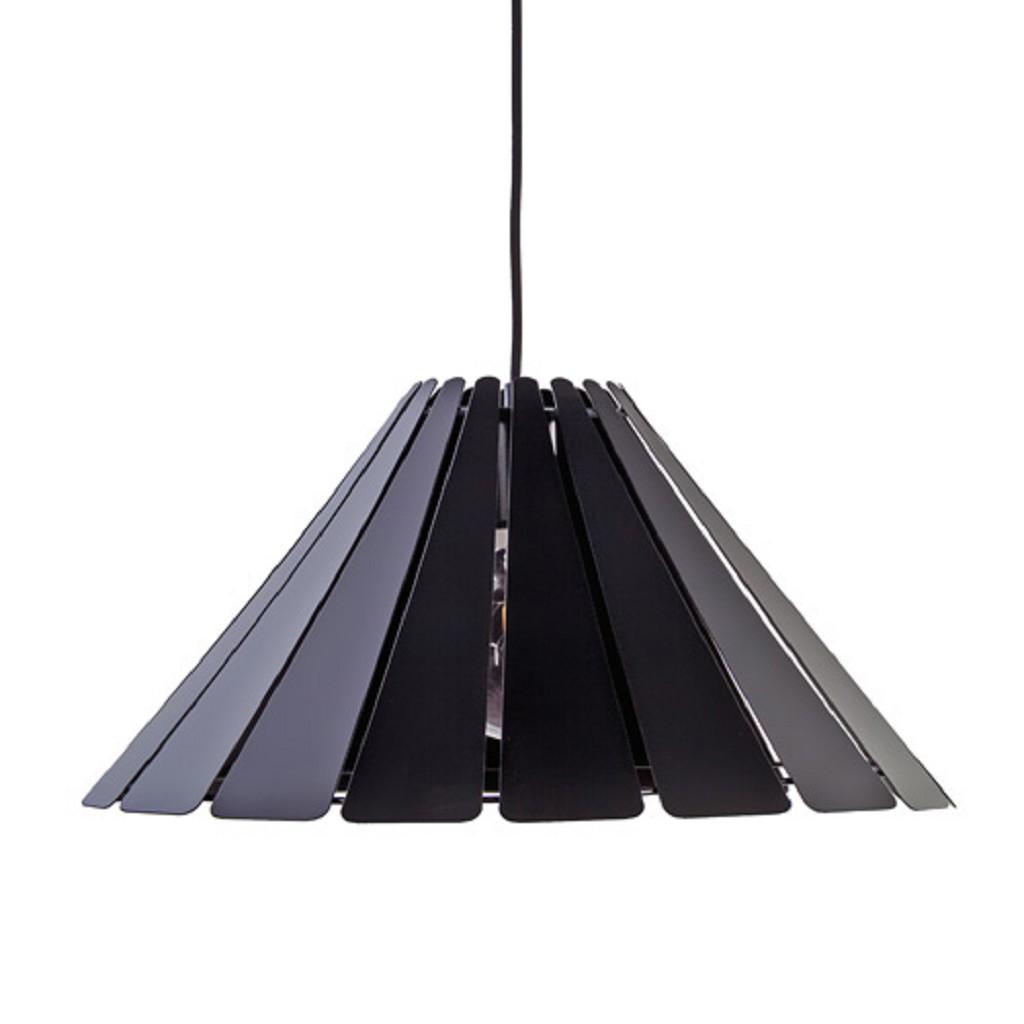 *Scandinavische ronde hanglamp zwart