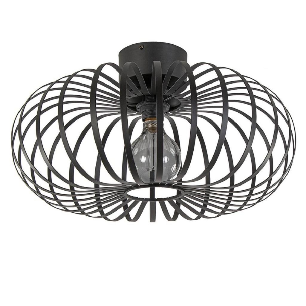 Moderne plafondlamp met ronde draadkap