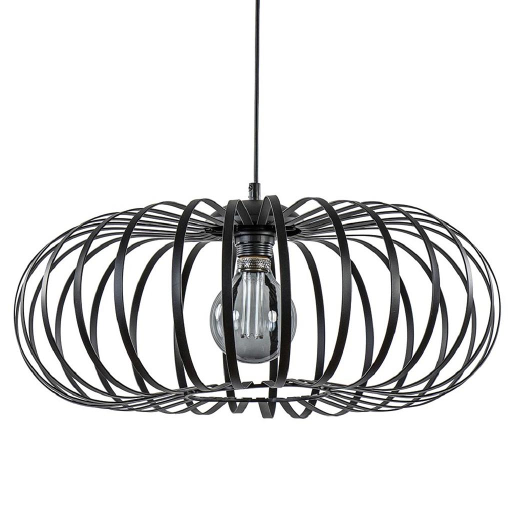 Ronde draad hanglamp modern mat zwart