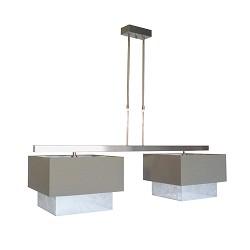Luxe hanglamp RVS eettafel