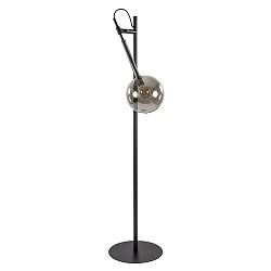 Zwart metalen vloerlamp met smoke glas