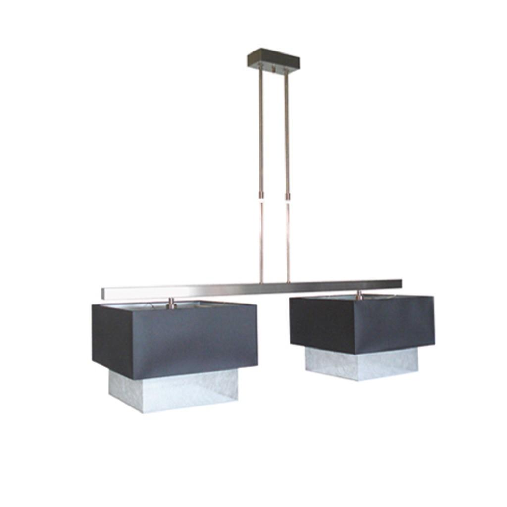 Prachtige luxe hanglamp RVS met stof