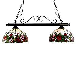 * Tiffany hanglamp Balk roos eettafel