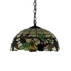 Hanglamp Tiffany glas in lood fruit