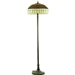 Staande lamp Tiffany glas in lood bruin