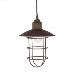 Kleine industriële hanglamp roestbruin