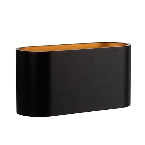 Wandlamp Xera ovaal zwart/goud