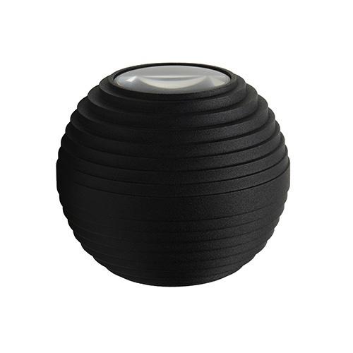 Wandlamp bol zwart IP54 3000k niet dimbaar