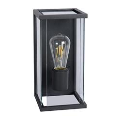 Buitenlamp antraciet/glas met bewegingssensor IP54