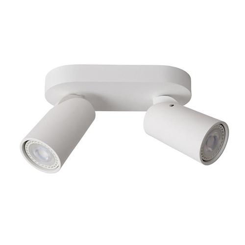 Opbouwspot 2-lichts wit incl.gu10 dtw