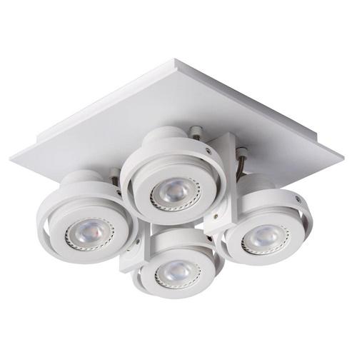 Plafondspot 4L vierkant wit industrieel dim to warm