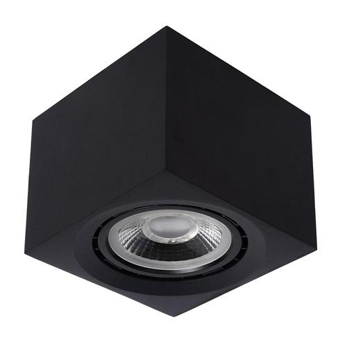 Opbouwspot kubus zwart GU10-111 dim to warm