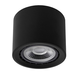 Plafondspot cilinder zwart GU10-111 dim to warm