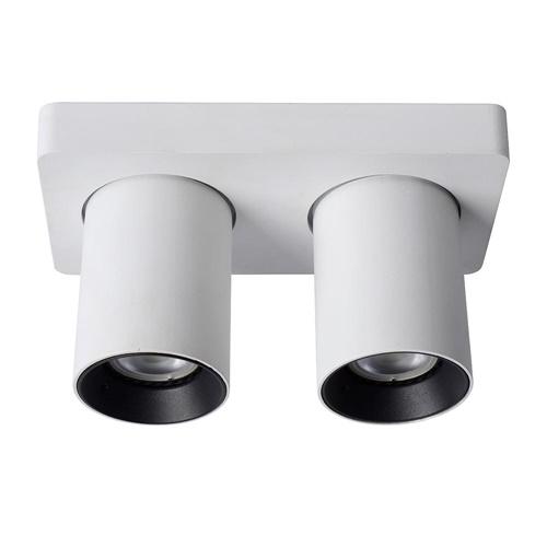 Plafondspot 2L tube wit/zwart gu10 dtw