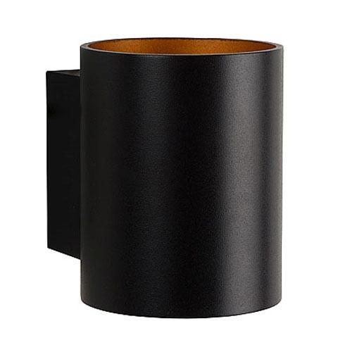 Wandlamp Xera zwart/gouden binnenkant