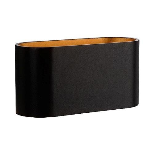 Wandlamp ovaal zwart/goud g9