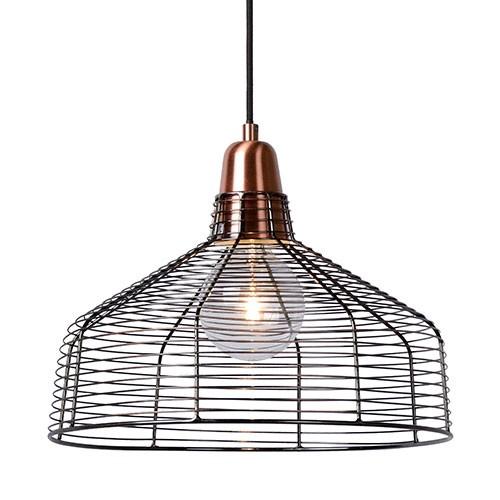 *Draad hanglamp koper Moino eettafel