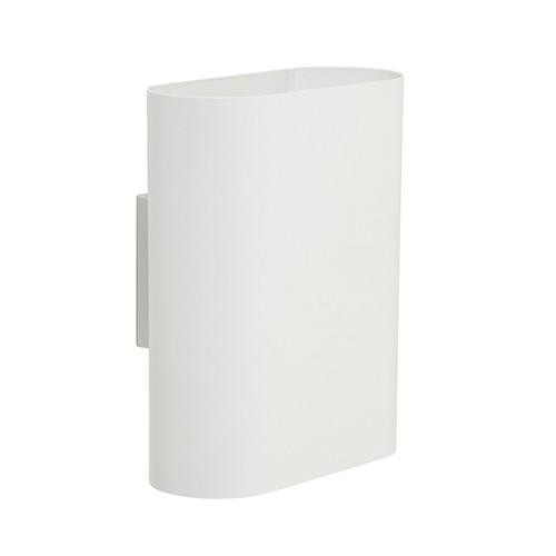 ovalis wandlamp wit design slaapkamer straluma